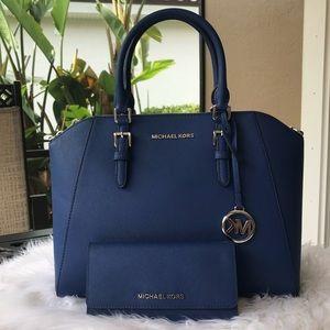 Michael Kors large Ciara satchel & wallet set